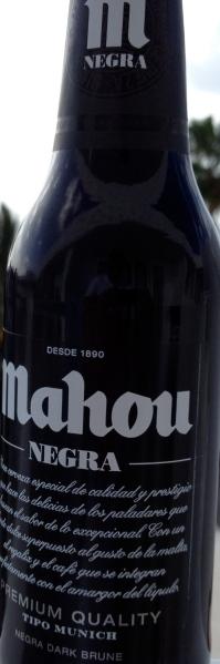 Mahou Negra - brewed by Mahou Brewery (Grupo Mahou-San Miguel - Carlsberg)