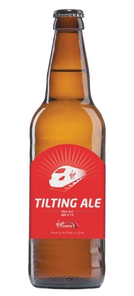 Virgin Trains Tilting Ale Bottle