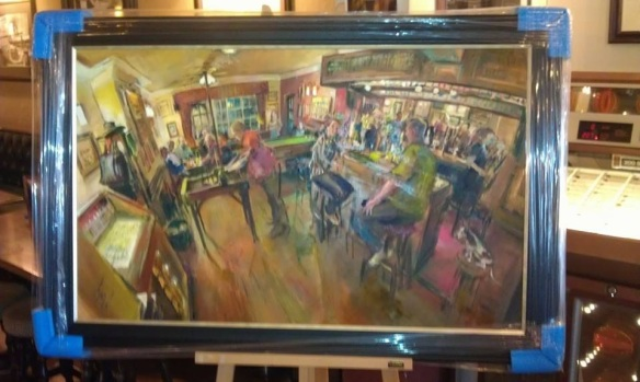 You've been framed! (Thanks to Jim at the Bulls head for the pic)